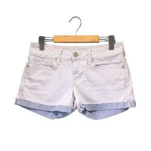 Gap Bleached Blue Low Rise Contrast Denim Shorts